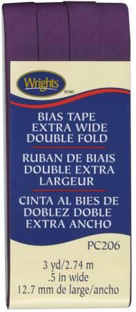 Extra Wide Double Fold Bias Tape Plum-  117206572