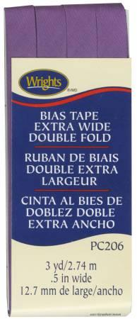 Extra Wide Double Fold Bias Tape Purple- Wrights 117206064