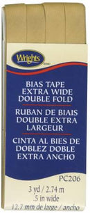 Extra Wide Double Fold Bias Tape Tan- 117206073
