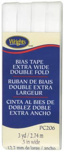Extra Wide Double Fold Bias Tape White-  117206030