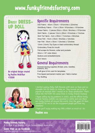 Daisy Dress Up Doll Pattern FF2649