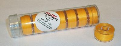 Fil-Tec Clear Glide Tube Bright Gold Class 15 PreWound Bobbin Tube