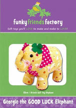 Georgie the Good Luck Elephant Pattern - 8in Stuffed Soft Toy - FF2618