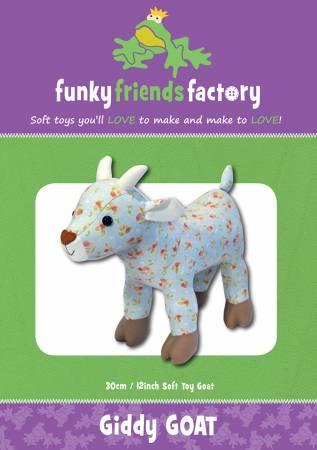 Giddy Goat Pattern - 13in Stuffed Soft Toy - FF2670