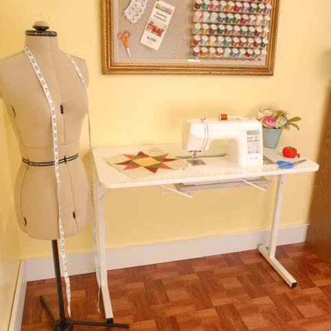 Gidget I White Sewing Table Arrow
