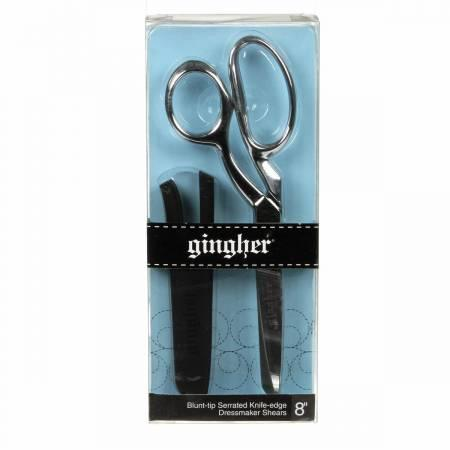 Gingher 8in Serrated/Knife Edge Dressmaker's Shears Blunt Tip - 01-005283