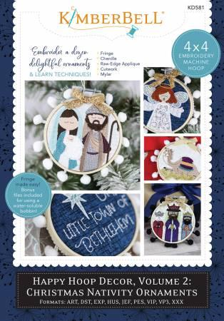 Happy Hoop Decor Vol. 2: Christmas Nativity Ornaments KD581