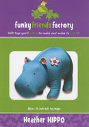 Heather Hippo Pattern - 13in Stuffed Soft Toy - FF4095