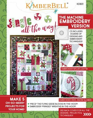 Jingle All The Way! Machine Embroidery CD & Sewing Book KD801