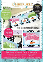 Kimberbell-Whimsy Winter Bench Pillow - KD514