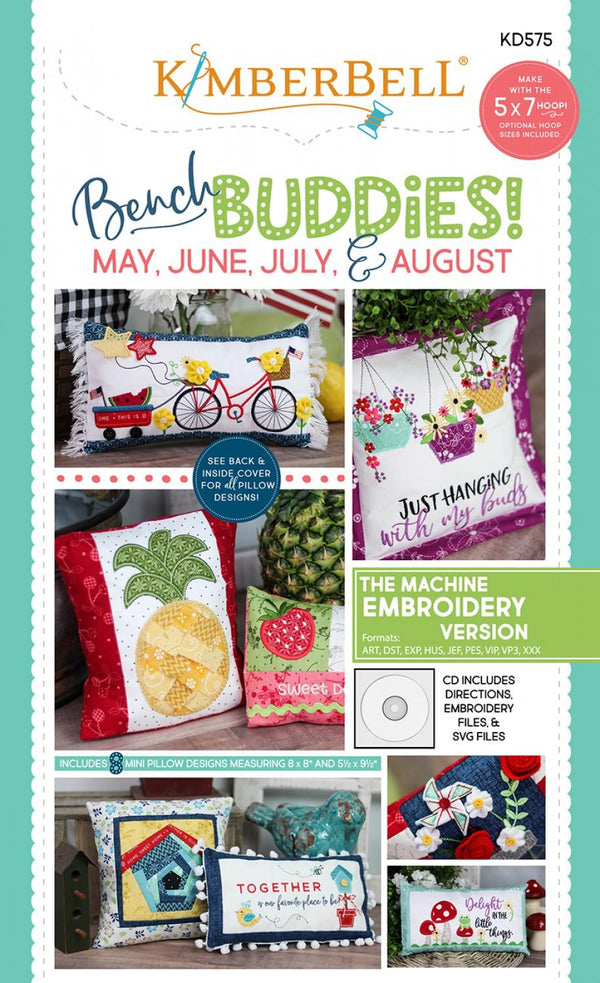Kimberbell Bench Buddies May june August KD575 Embroidery