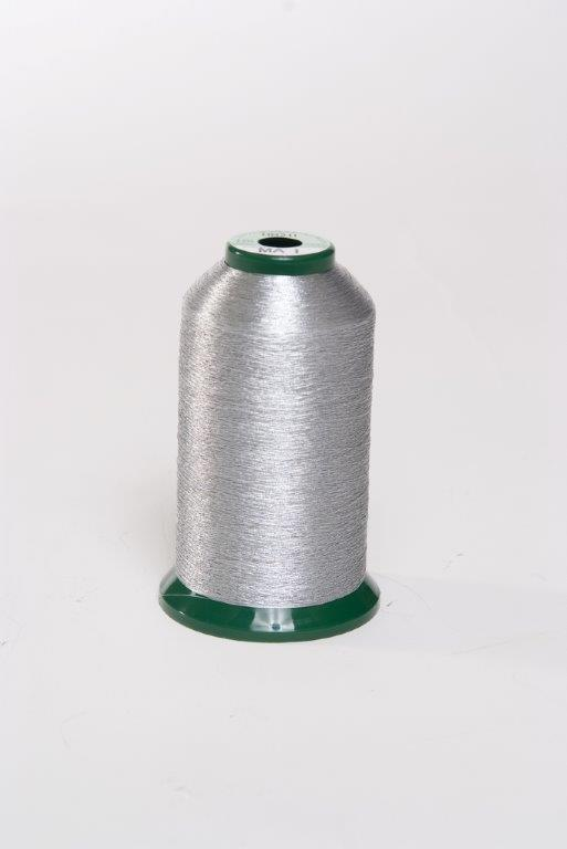 KingStar Metallic Embroidery Thread 40wt 1000m-Aluminum MA-1