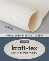 Kraft-Tex Roll White Hand Dyed & Prewashed 20406CT