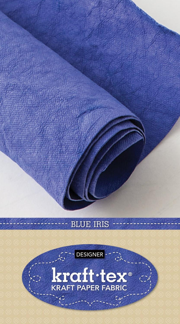 Kraft-Tex Roll Blue Iris Hand Dyed & Prewashed 20405CT 20383