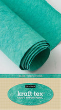 Kraft-Tex Roll Blue Turquoise Hand Dyed & Prewashed 20387