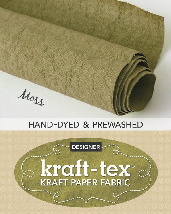Kraft-Tex Roll Moss Hand Dyed & Prewashed 20426
