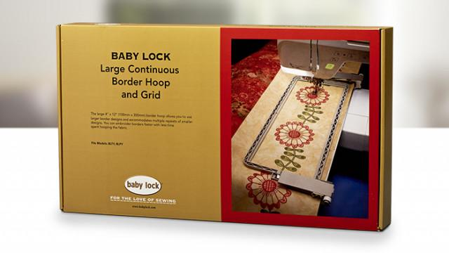 "Large Continuous Border Hoop & Grid 4""x12"" - Babylock BLMA-150"