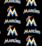 MLB Miami Marlins 60in - 6686-B - 100% Cotton - by Fabric Traditions - Checker