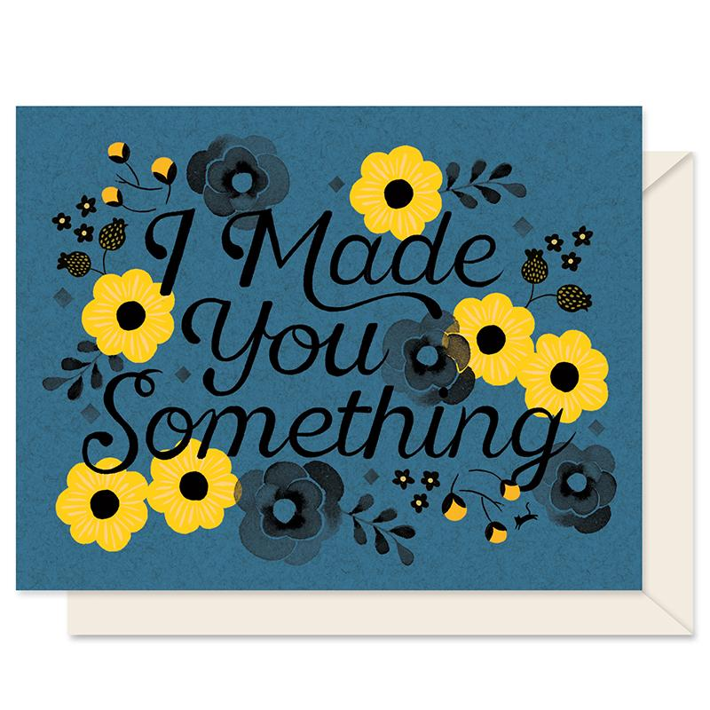 Made Something Greeting Card-Cookie Flower CM-GC-MS-003