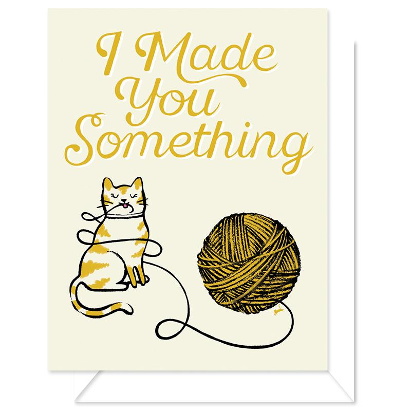 Made Something Greeting Card- Yarn Cat