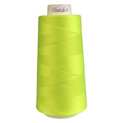 Maxi-Lock Polyester Serger Thread: 3000yds 50wt - Neon Yellow - 51-32819