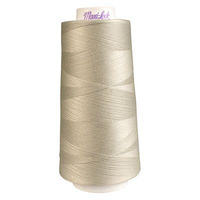 Maxi-Lock Polyester Serger Thread: 3000yds 50wt - Pearl - 51-32601