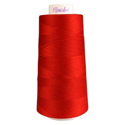Maxi-Lock Polyester Serger Thread: 3000yds 50wt - Poppy Red - 51-45136