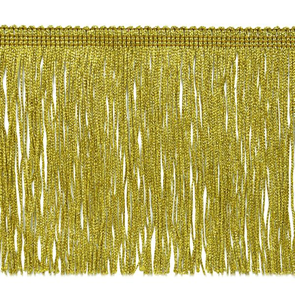 "Metallic Chainette Fringe Trim 6"" Gold IR6912GL"