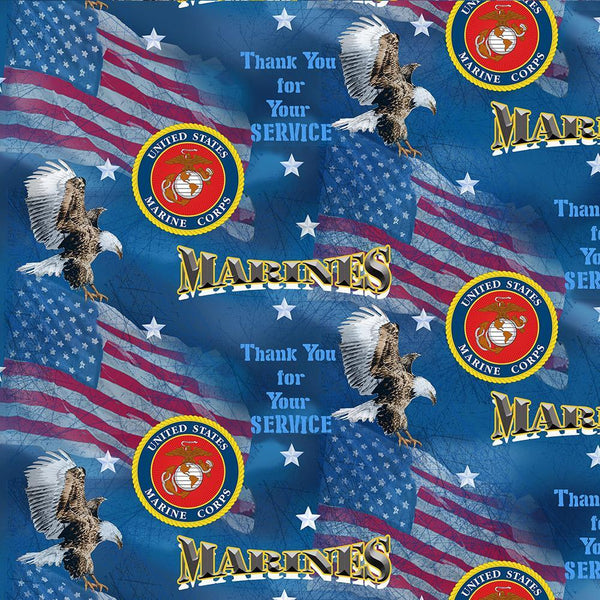 Military Prints-Marines Flags 1253-M