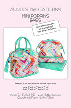 Mini Poppins Bags Pattern and Stays AT629