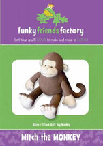 Mitch the Monkey Pattern - 17in Stuffed Soft Toy - FF4286