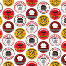 Peace, Love & BBQ-BBQ Stamps White/Multi 9509-8