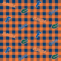 NCAA-Florida Gators Buffalo Plaid Cotton FL-1207