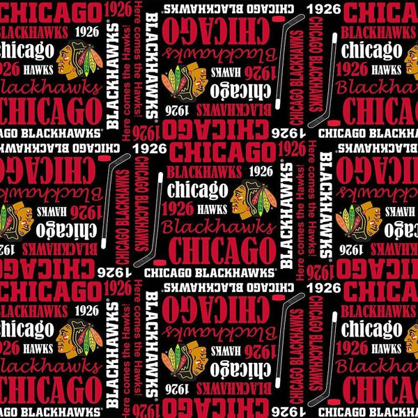 NHL- Chicago Blackhawks Allover 1138-BLK