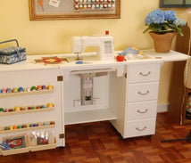 Norma Jean White Arrow Sewing Cabinet