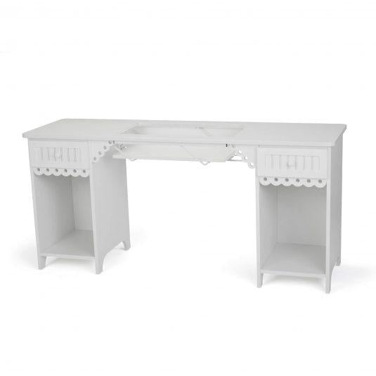 Olivia White Arrow Sewing Cabinet