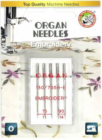 Organ Embroidery Assorted Size Needles - 5470000BL