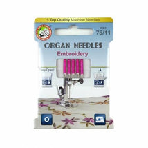 Organ Needles Embroidery Size 75/11 Eco Pack 3000121