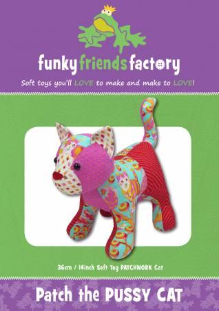 Patch The Pussy Cat  Pattern - 14in Stuffed Soft Toy - FF4705