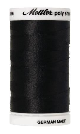 Poly Sheen Embroidery Thread Black - 40wt 875yds