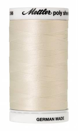 Poly Sheen Embroidery Thread Cream - 40wt 875yds