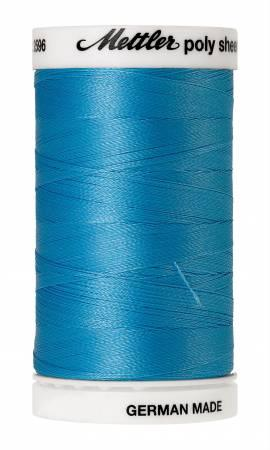 Poly Sheen Embroidery Thread Crystal Blue - 40wt 875yds