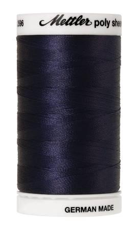 Poly Sheen Embroidery Thread Dark Indigo - 40wt 875yds