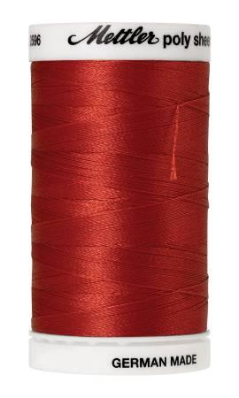 Poly Sheen Embroidery Thread Dark Rust - 40wt 875yds