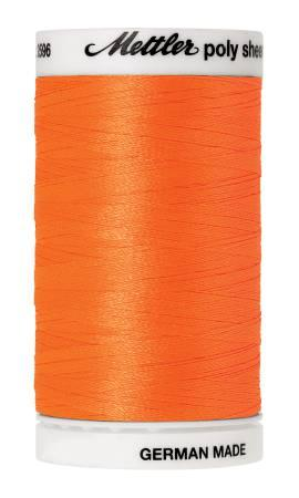 Poly Sheen Embroidery Thread Orange  - 40wt 875yds