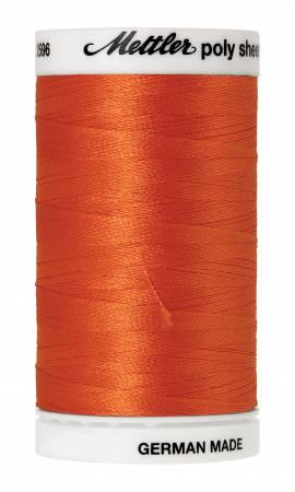 Poly Sheen Embroidery Thread Tangerine - 40wt 875yds