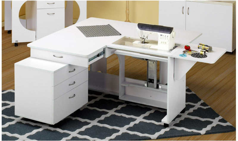 Quilters Vision (Cabinet and Caddie Set) Sewing Cabinet White - Tailormade Q-Q001