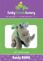 Randy Rhino Pattern - 13in Stuffed Soft Toy - FF4491