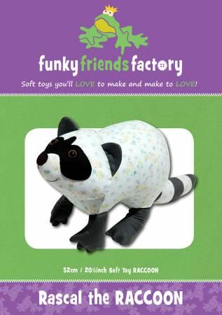 Rascal the Raccoon Pattern - 20in Stuffed Soft Toy - FF2663