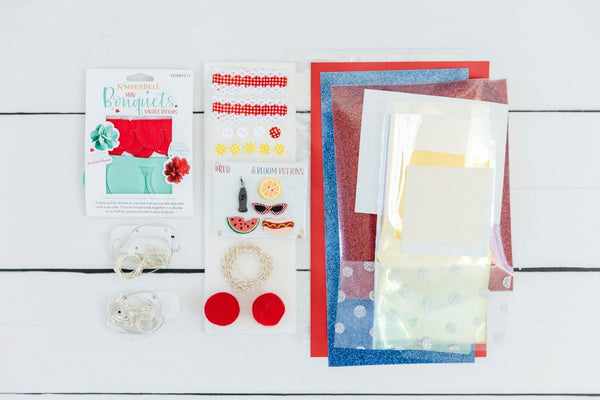 Red, White & Bloom Embellishment Kit KDKB1242